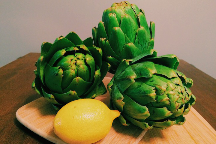 Artichoke Prep Before