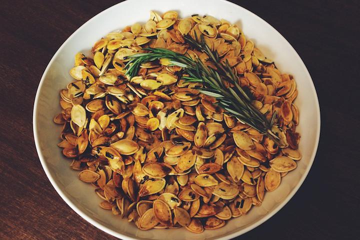 Garlic Rosemary Pumpkin Seeds Finished