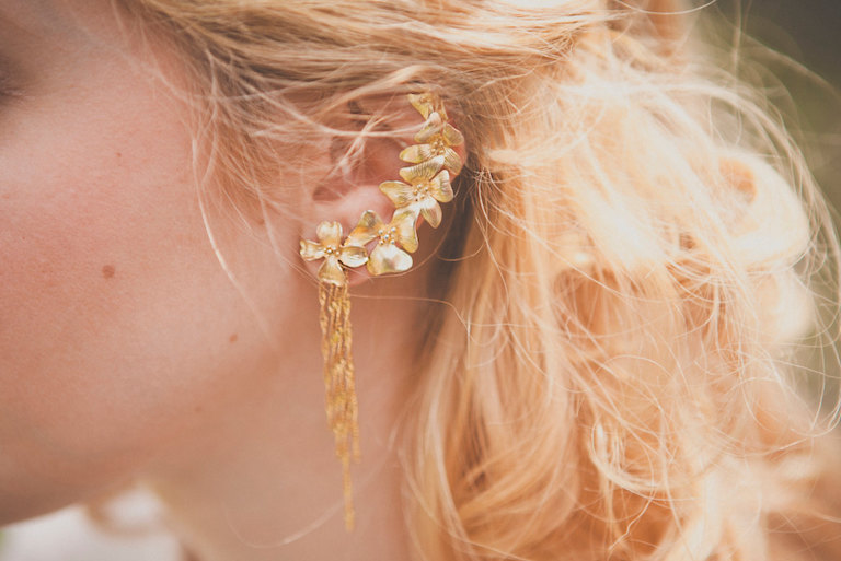 Etsy Ear Cuffs Gold Flowers