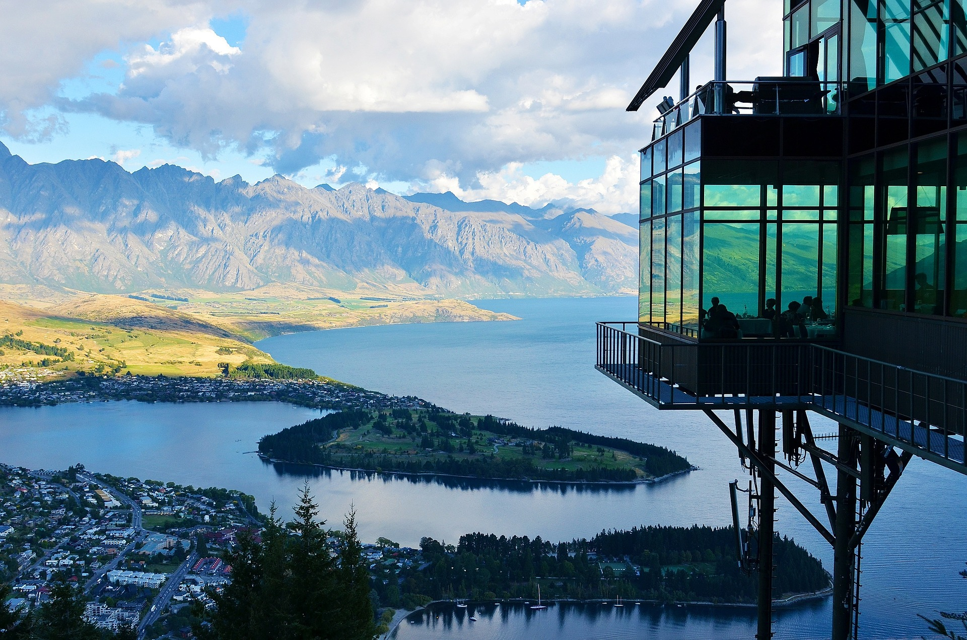 New Zealand Mountain Hotel View