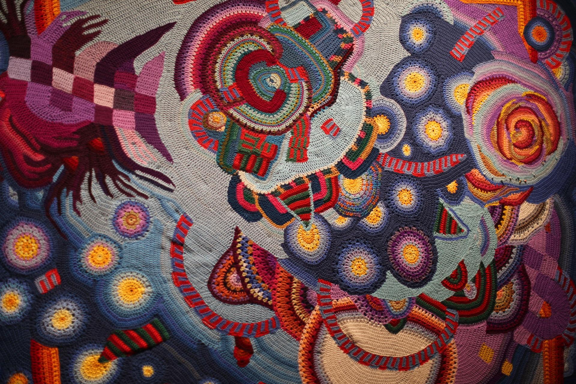 Crochet bedspread de Young Museum Bob Weir Grateful Dead