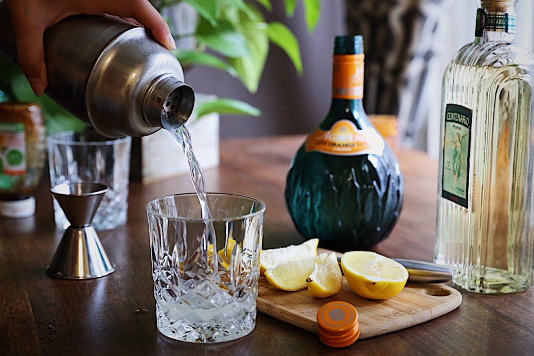 Agavero Orange Making Margarita