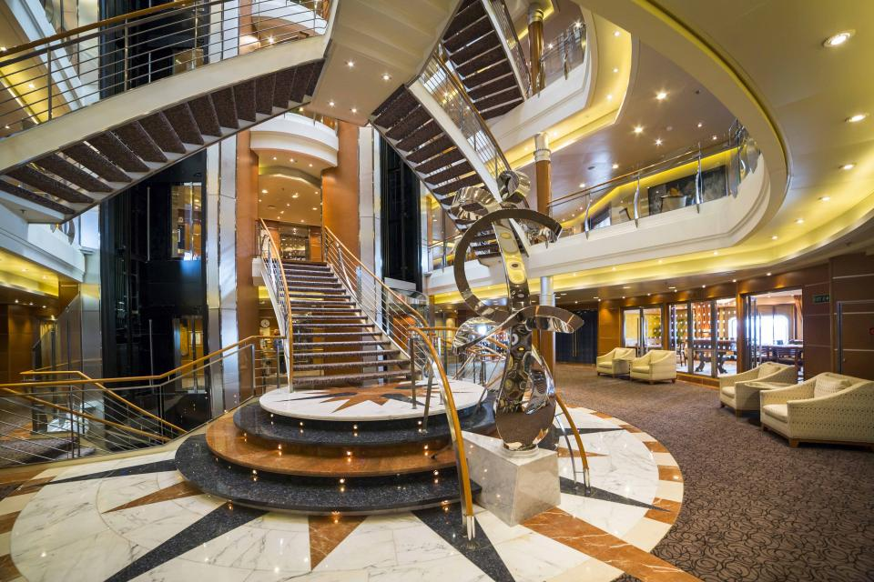 Regent Seven Seas Voyager Main Staircase