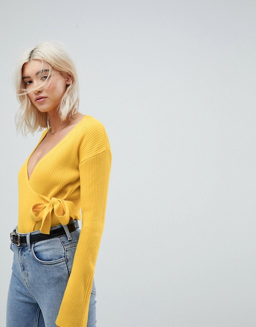 ASOS Wrap Sweater in Rib