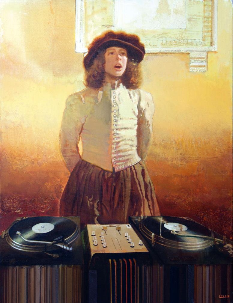 DJ Morning oil on canvas - Igor Gusev