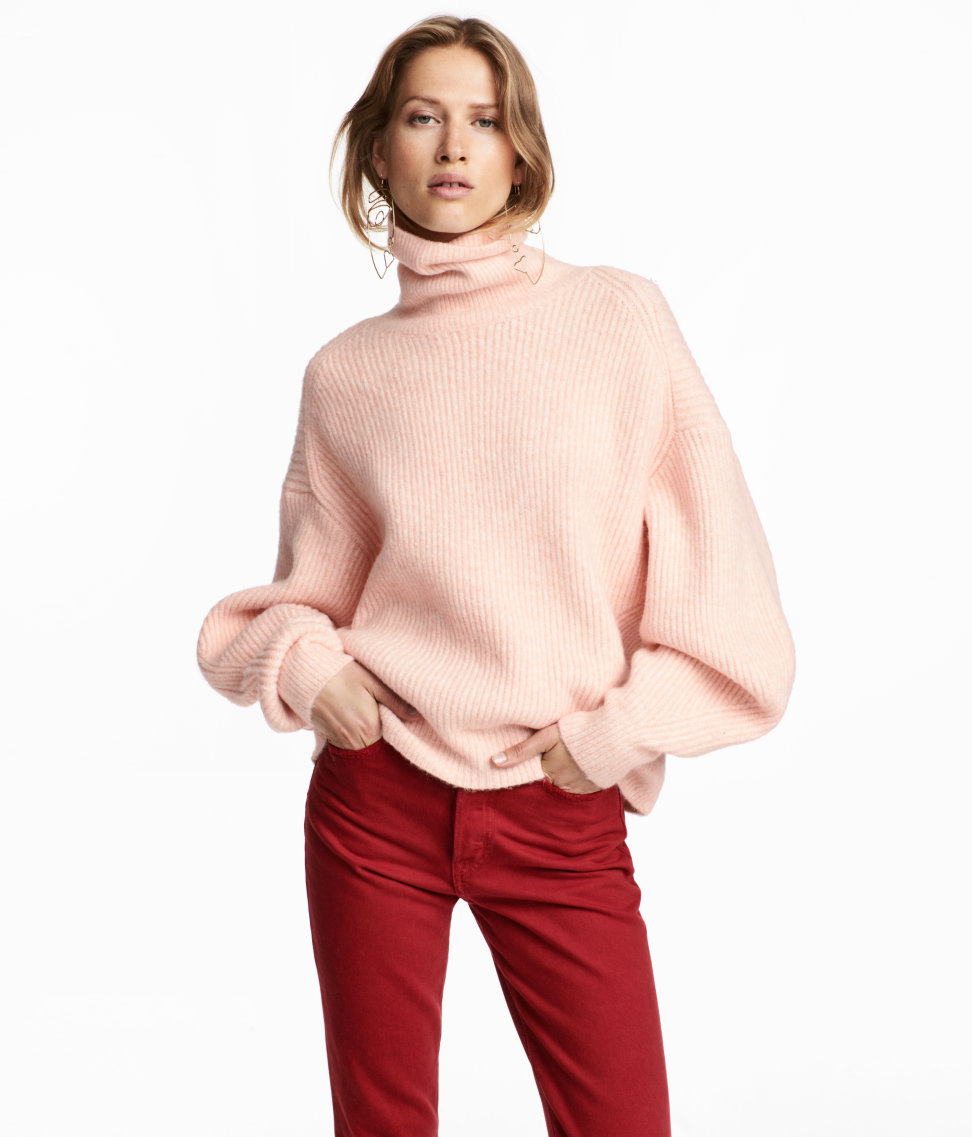 Knit Sweater in Light Pink