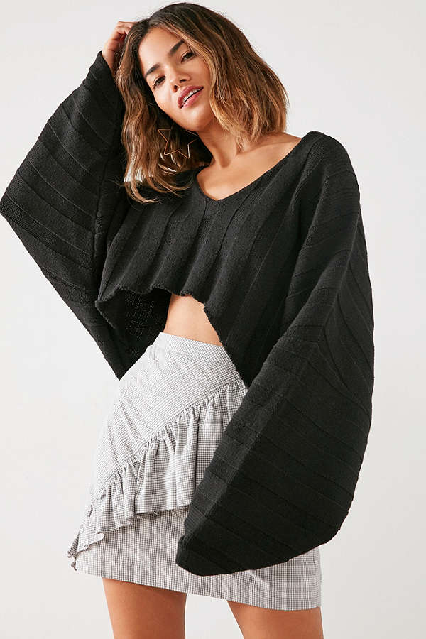 Silence Noise Slouchy Ribbed High:Low Sweater