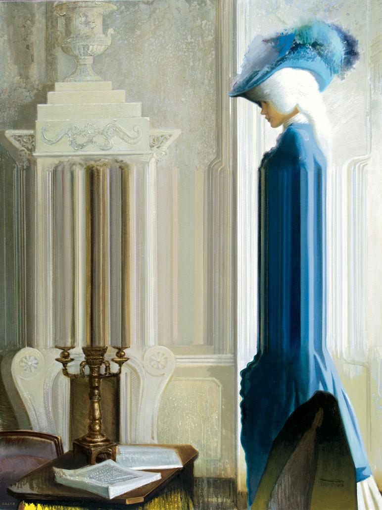 Sword Swallower oil on canvas - Igor Gusev