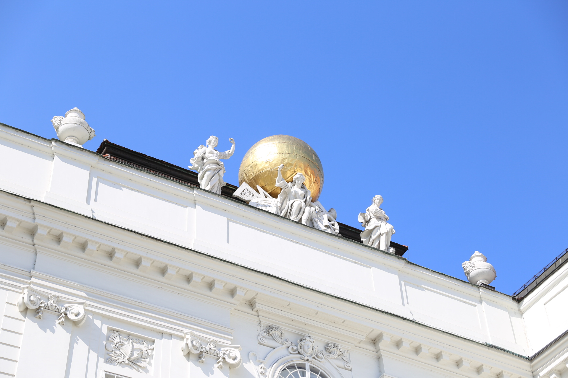 Golden Dome Above Austrian National Library