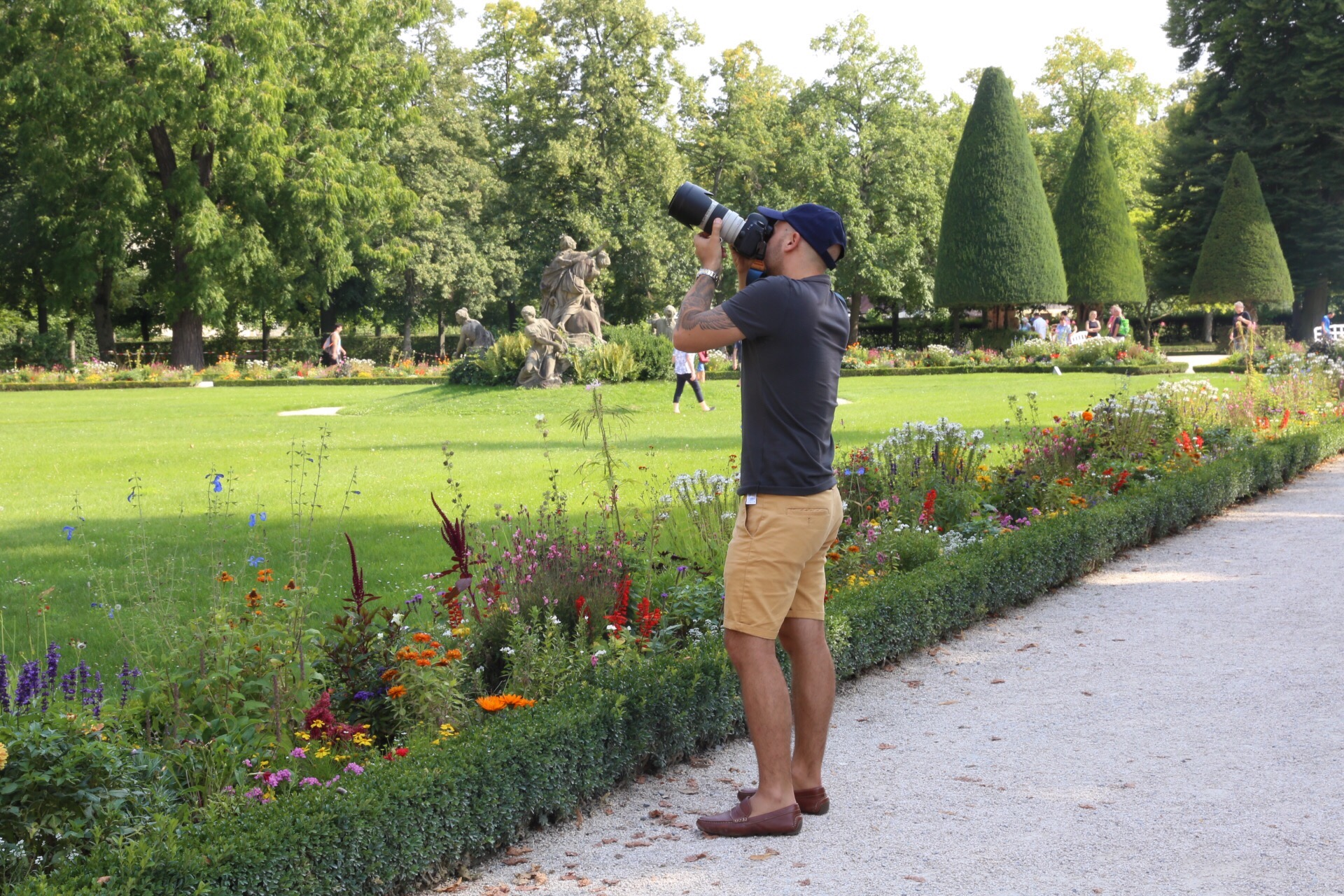 Taking Pictures in Wurzburg Residenz Garden
