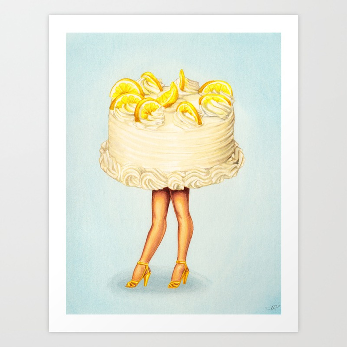 Kelly Gilleran Cake Girl Lemon