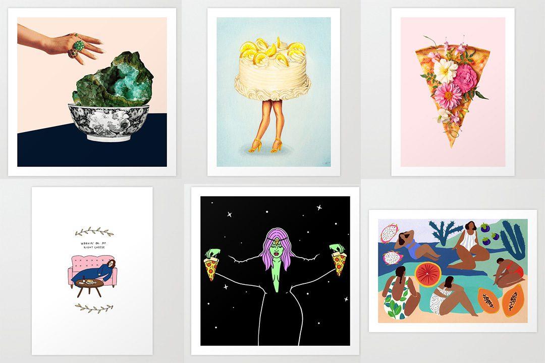 Society6 Food Art Prints