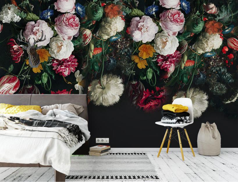 DreamyWall Dutch Victorian Floral Wallpaper