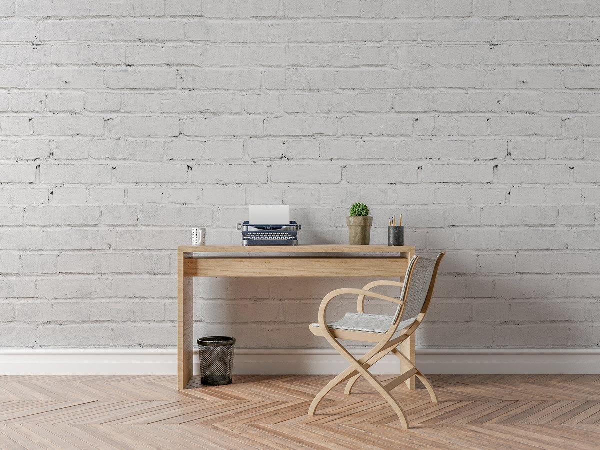 HomeArt Stickers White Bricks Wallpaper
