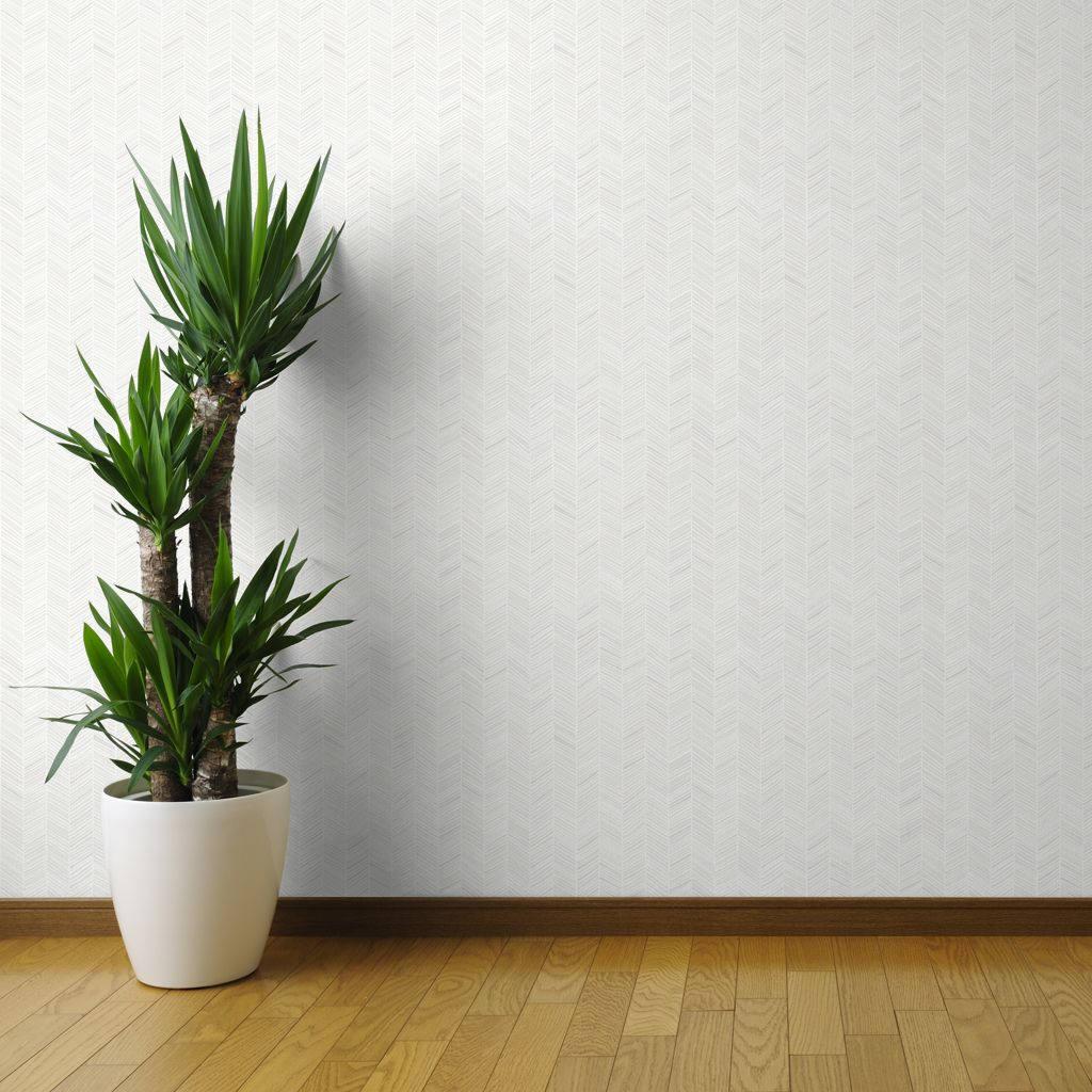 Spoonflower Herringbone Hues of Grey Wallpaper