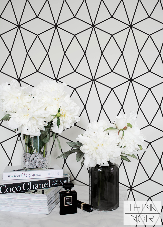 ThinkNoirWallpaper Geometric Stars Wallpaper