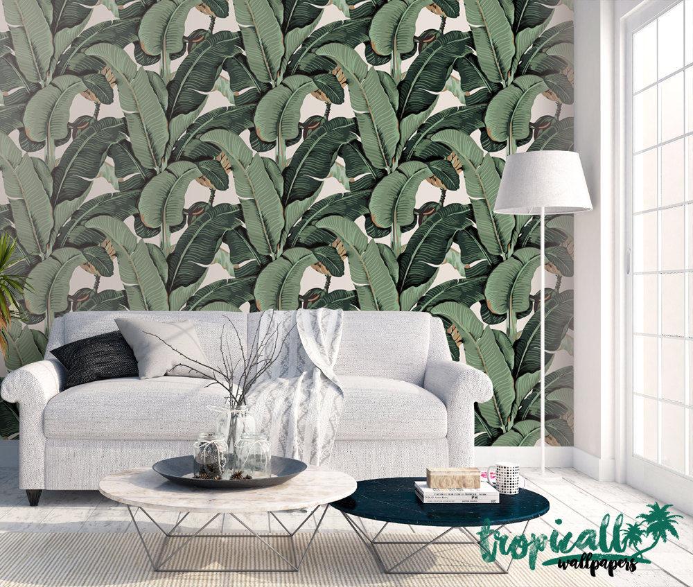 Tropicwall Banana Leaf Wallpaper