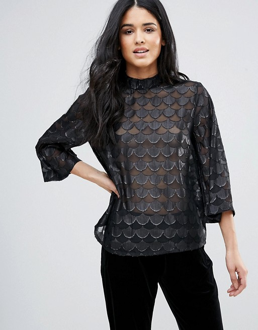 ASOS Minimum Burn Out Sheer Top