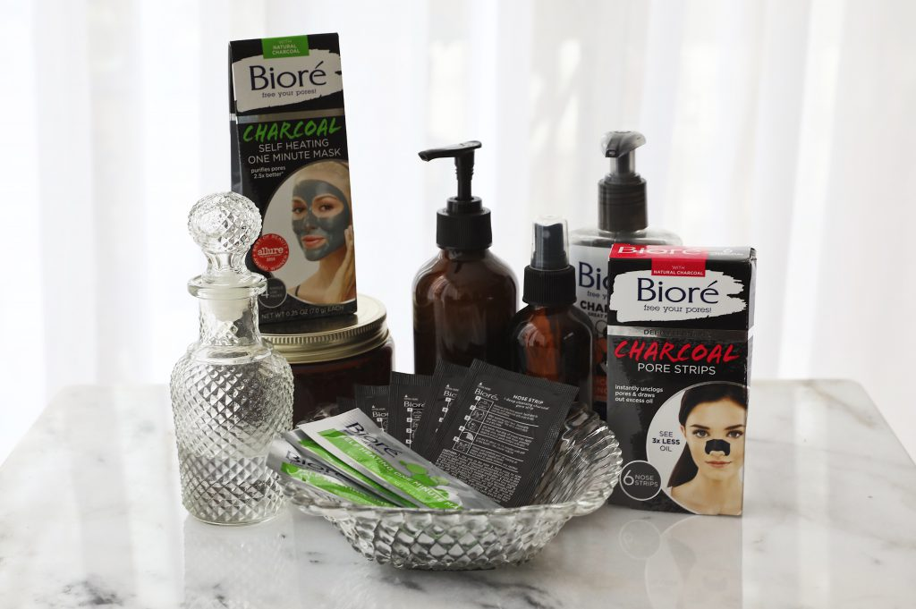 Biore Charcoal Nose Strips and Self Heating One Minute Mask