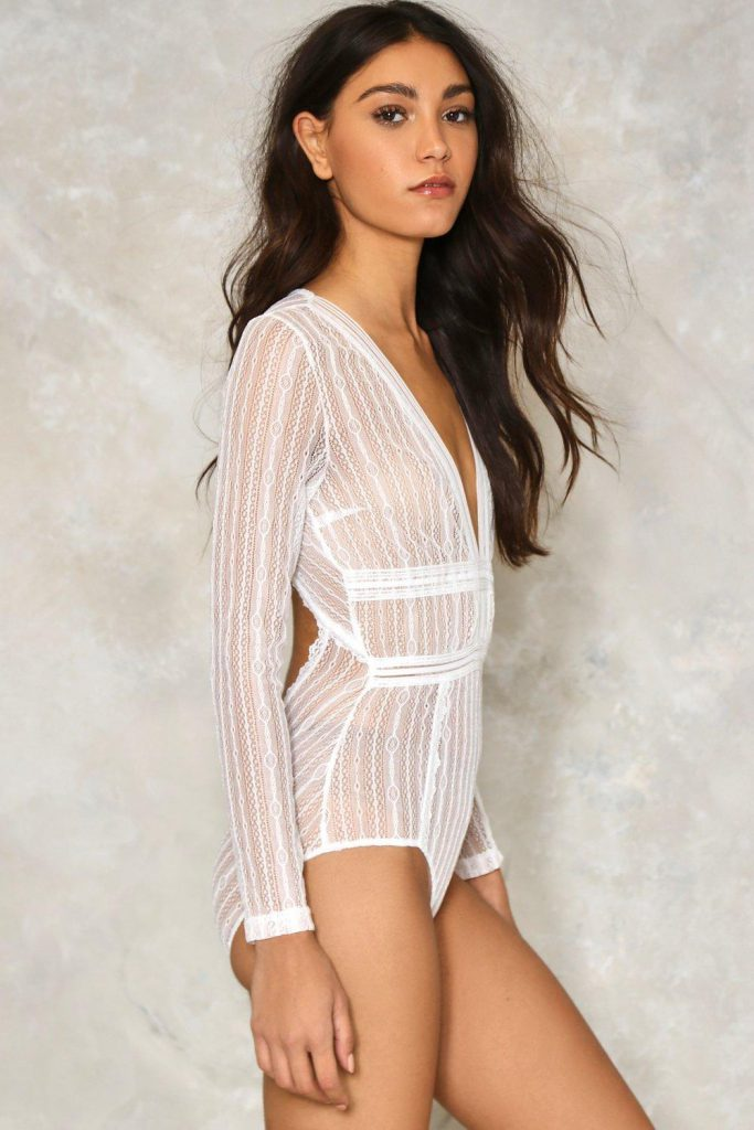 Nasty Gal Sheer Me Out Bodysuit