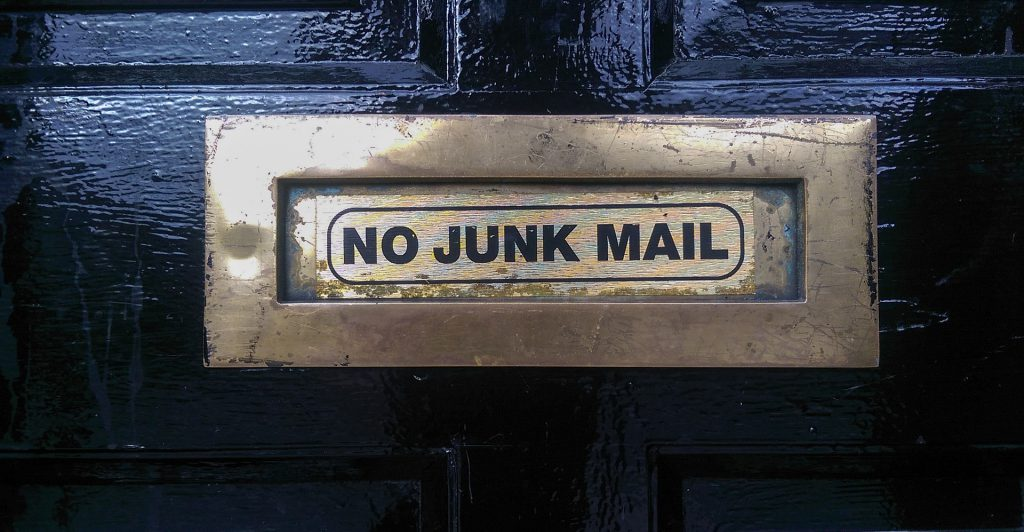 No Junk Mail Door Mail Slot