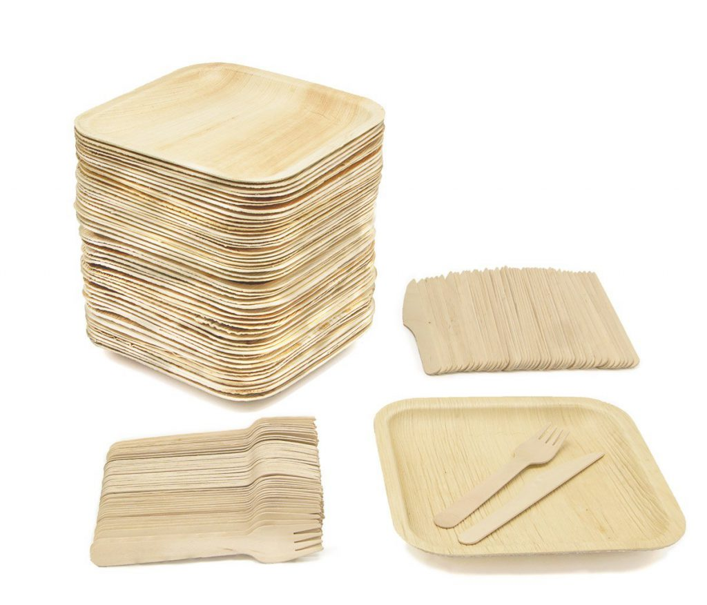 Party Pack of 150 Eco-Friendly Dinnerware
