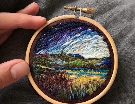 Vera Shimunia Cross Stitching Milkyway