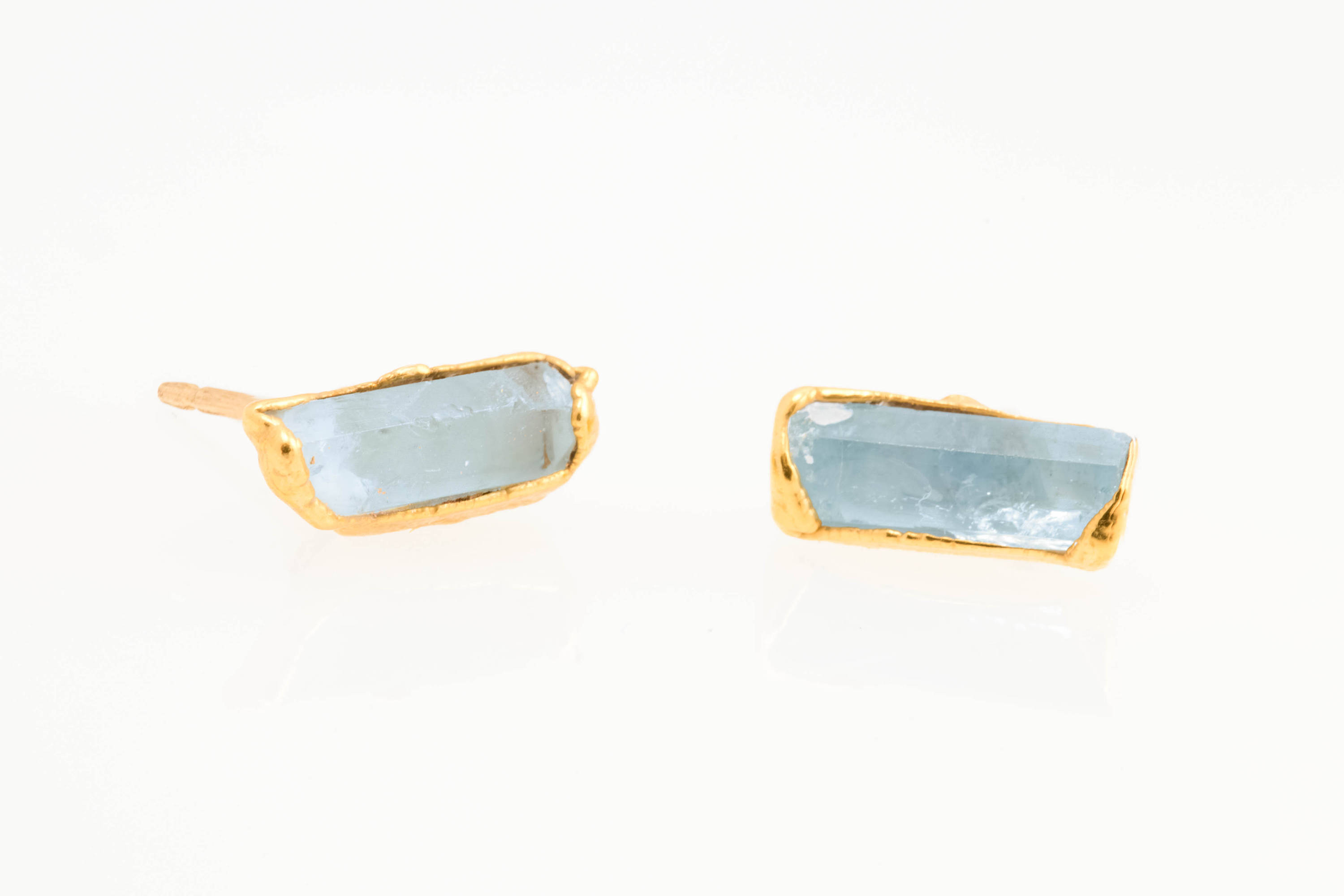 Ringcrush Raw Aquamarine Earrings