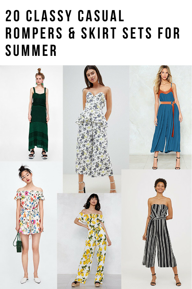 20 Classy Casual Rompers & Skirt Sets for Summer 2018