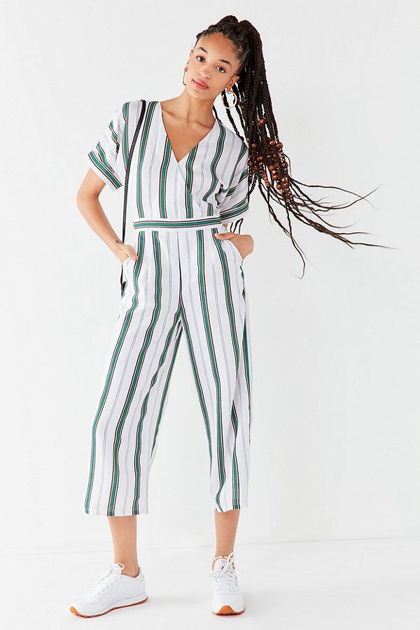 URBAN OUTFITTERS J.O.A Striped Tie-Back Jumpsuit
