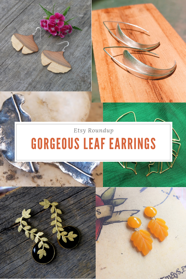 MilkAndFlowers Fall Leaf Earrings