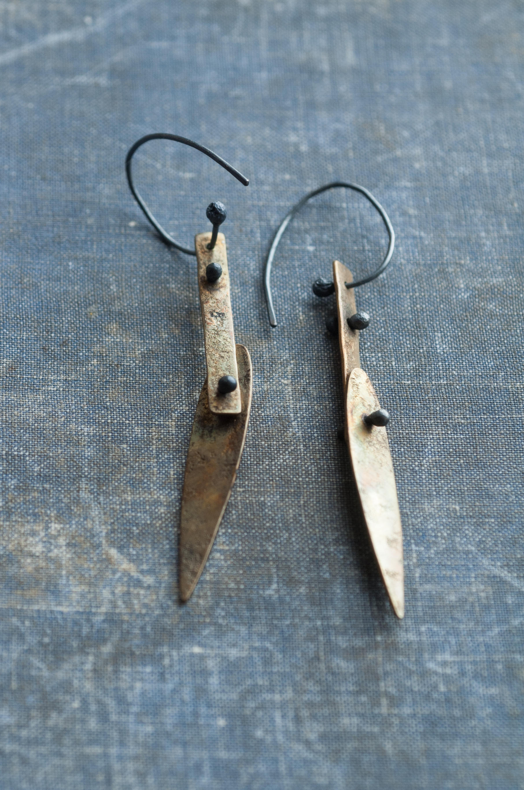 UndergrowthStudio abstract leaf earrings