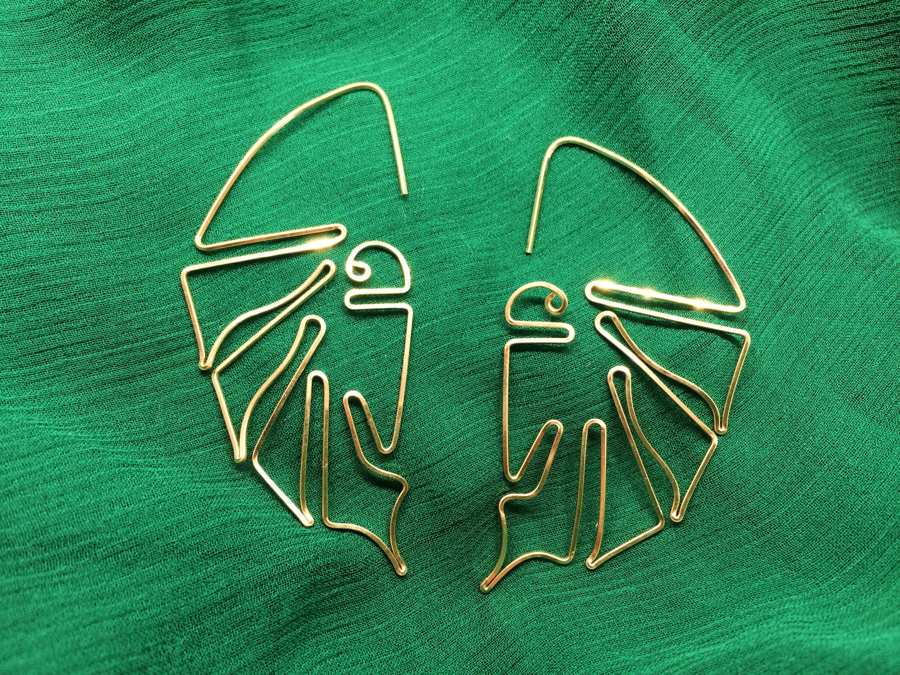 rahajewelry monstera leaf earring