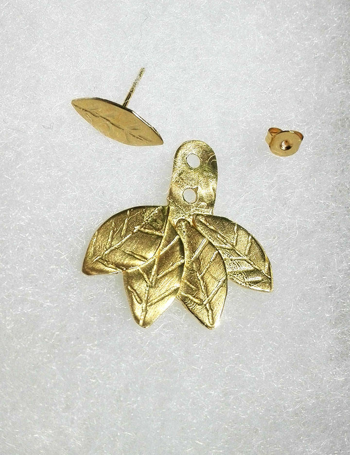 rioritajewelry gold leaf ear jackets